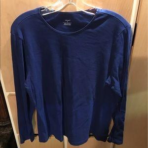 CJ Banks Brand New Womans Top Long Sleeve Blue